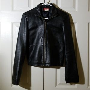 ESPRIT real leather black jacket